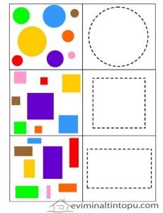 geometrik şekilleri gruplandırıyorum