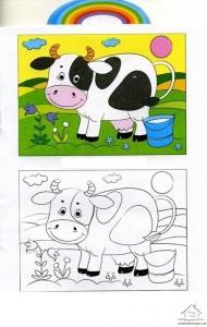 inek boyama çalışması