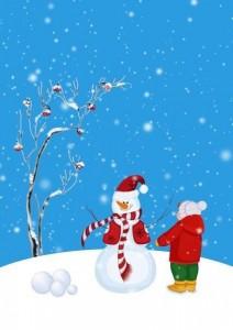 kış oyunları kardan adam yapma