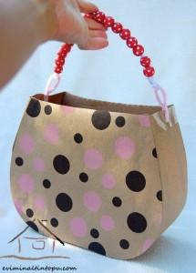 kartondan oyuncak çanta yapımı