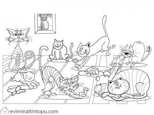 kedi boyama ilkokul