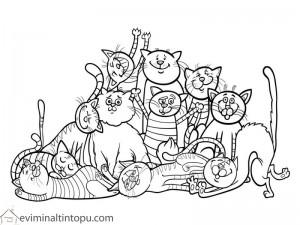 kedi boyama okul öncesi