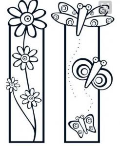kitap_ayracı_çiçek_şablon