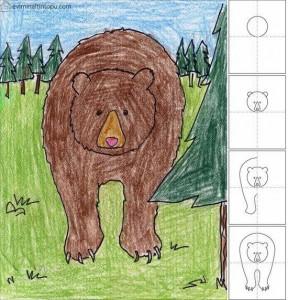 kolay ayı çizimi