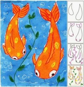 kolay balık çizimi