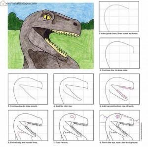 kolay dinozor çizimi
