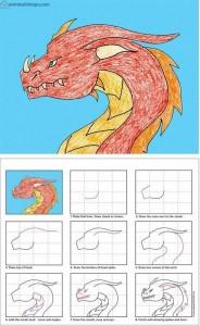 kolay ejderha çizimi