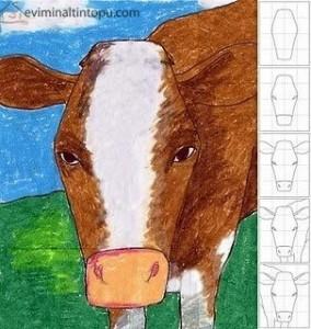 kolay inek çizimi
