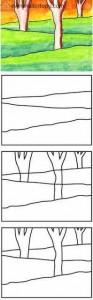 kolay orman çizimi