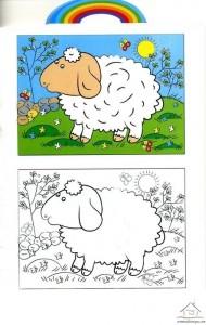koyun boyama çalışması