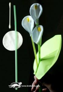 makyaj pamuğundan çiçek
