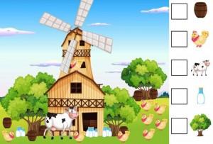 okul öncesi çiftlik temalı matematik etkinlikleri