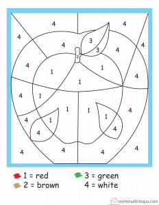 okul öncesi matematik boyamalar