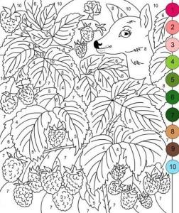 okul öncesi sayı boyama sayfaları