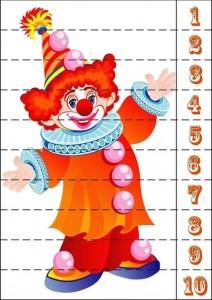 palyaço sayı puzzle