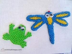 pipetten kurbağa ve kelebek