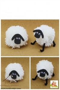ponpondan koyun yapımı