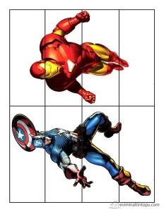 süper kahramanlar puzzle çalışması