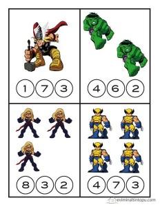 süper kahramanlar sayılar