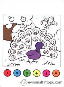 sayılar ile boyama etkinlik sayfaları