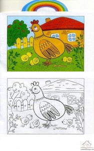 tavuk harika boyama çalışması