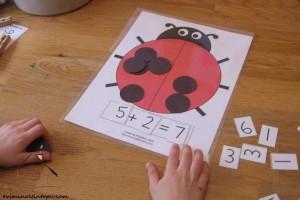 uğur böceği ile matematik etkinliği