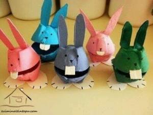 yumurta kutusundan tavşanlar