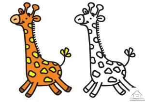 zürafa boyama çalışması