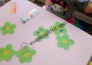 çiçekler ile matematik etkinlikleri