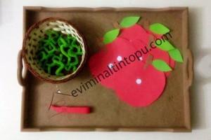 elma kurdu ile eğlenceli matematik etkinliği (5)