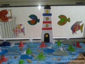 kağıt ile deniz hayvanları yapımı