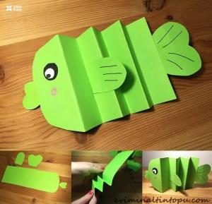 kağıttan balık nasıl yapılır