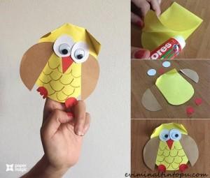 kağıttan baykuş nasıl yapılır