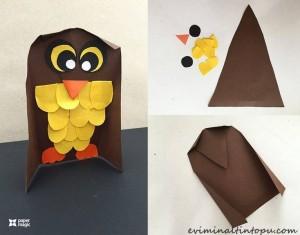 kağıttan baykuş yapımı
