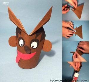 kağıttan geyik yapımı