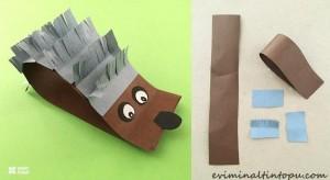 kağıttan kirpi yapımı