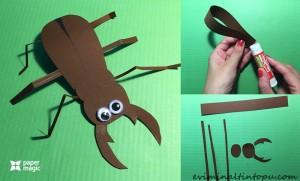kağıttan nasıl yapılır örümcek (2)