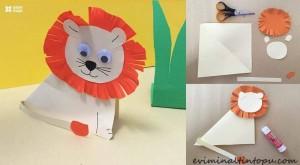 kağıttan nasıl yapılır arslan
