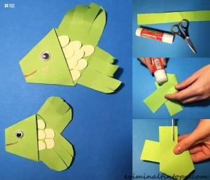kağıttan nasıl yapılır balık