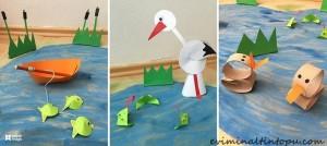 kağıttan nasıl yapılır deniz hayvanları