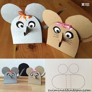 kağıttan nasıl yapılır fare