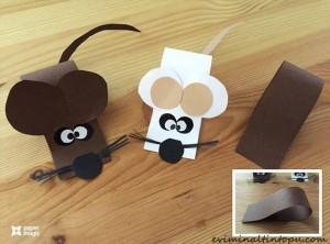 kağıttan nasıl yapılır fare sevimli