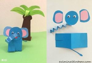 kağıttan nasıl yapılır fil (2)