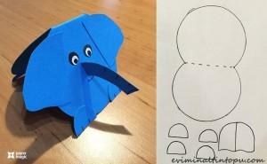 kağıttan nasıl yapılır fil