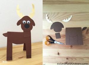 kağıttan nasıl yapılır geyik