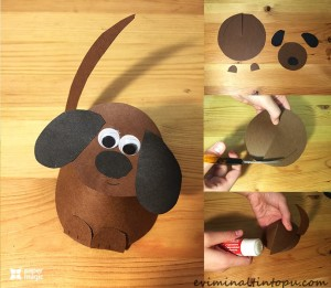 kağıttan nasıl yapılır köpek