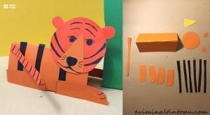 kağıttan nasıl yapılır kaplan
