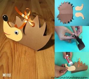 kağıttan nasıl yapılır kirpi