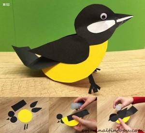 kağıttan nasıl yapılır kuş