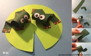 kağıttan nasıl yapılır kurbağa (2)